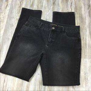 Soft Surroundings High Rise Black Jeans SZ 8 Tall
